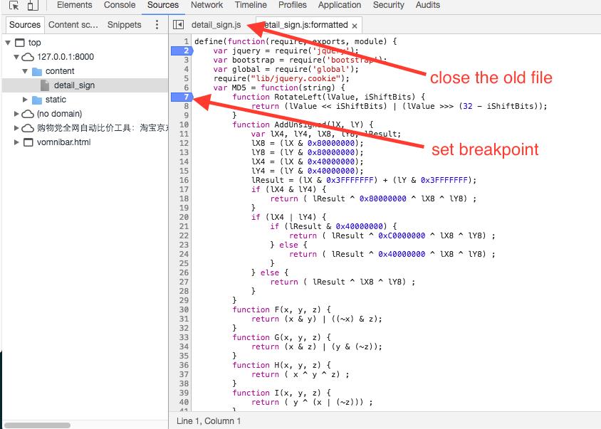 How to debug minified js file in chrome — scrapy_guru 0 0 1